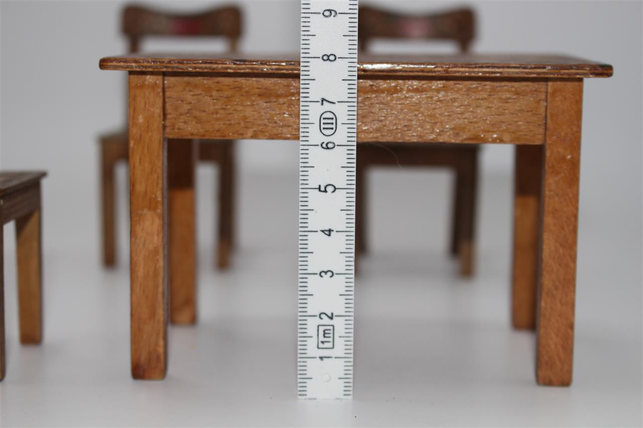 alter tisch und st hle bauernm bel bauerstube puppenstube ca 1920 30 c549 ebay. Black Bedroom Furniture Sets. Home Design Ideas