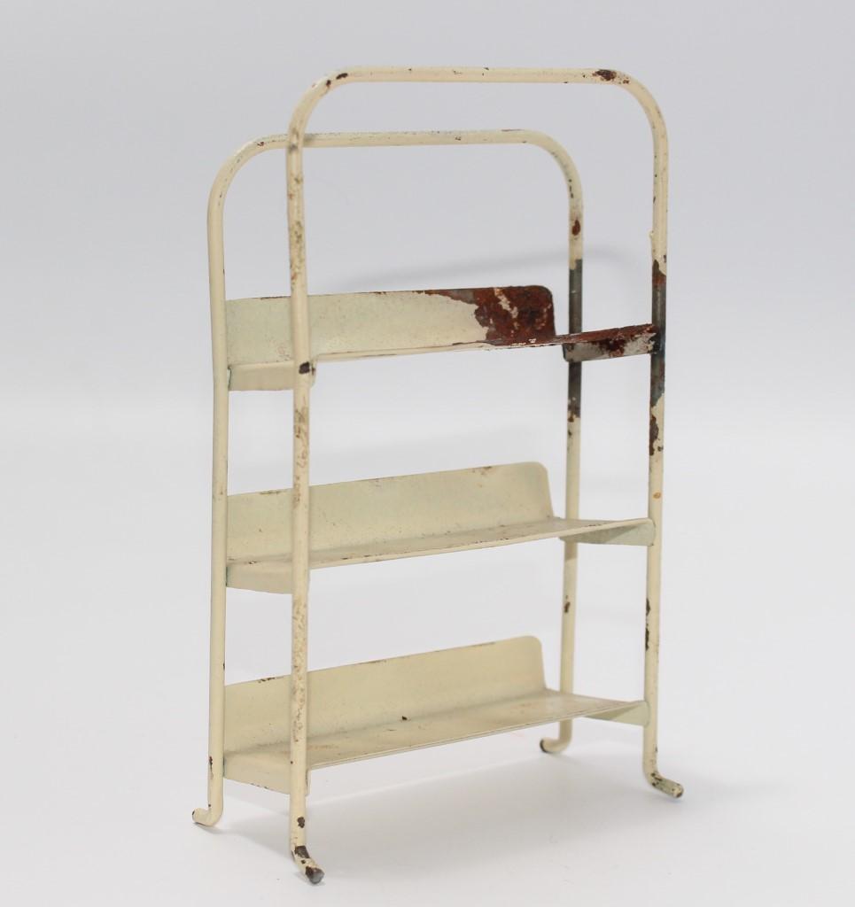 altes verkaufs regal blech f r kaufladen ca 1930 j832 ebay. Black Bedroom Furniture Sets. Home Design Ideas